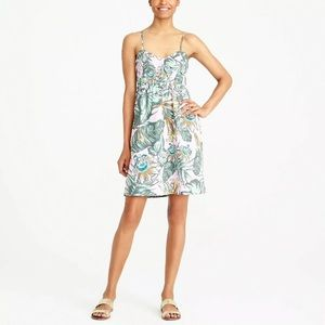 J. Crew Factory Printed Poplin Cami Dress